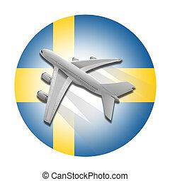 schaaf, en, zweden, flag.