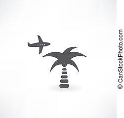 schaaf, palm, pictogram