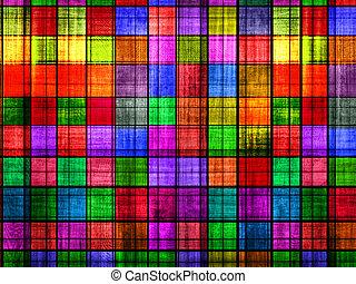 schaakbord, grunge, kleurrijke, achtergrond