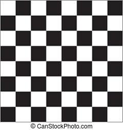 schaakbord, met, grijs, dividers