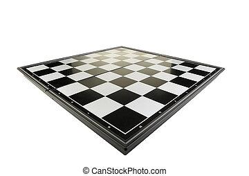 schaakbord, perspectief, aanzicht