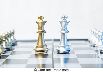 schaakmat, zakelijk, of, politiek, concept