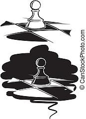 schaakspel, pion