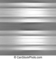 schaaltje, aluminium, metaal, textuur, achtergrond, geborstelde, of
