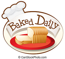 schaaltje, brood, bakt, alledaags, etiket