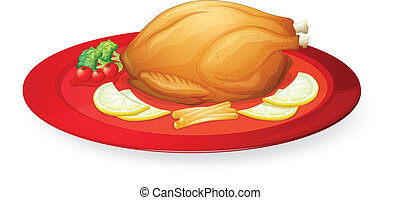 schaaltje, chicken, vlees