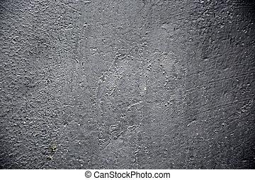schaaltje, geverfde, metaal, achtergrond., roestige , black , textuur