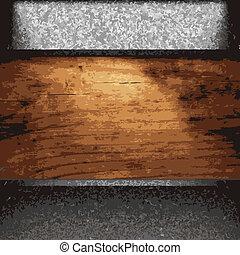 schaaltje, hout, ijzer
