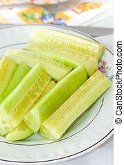 schaaltje, komkommers