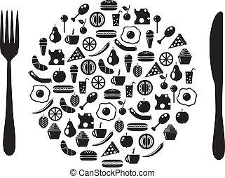 schaaltje, pictogram