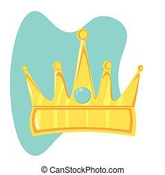 schaaltje, steen, goud, kleur, kroon, kostbaar
