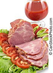 schaaltje, varkensvlees, snack
