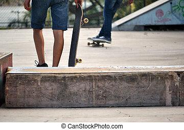 schaatsen plank