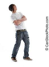 schaatsen plank, tiener