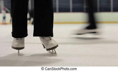 schaatsen, praktijk, dochter, mamma, ijs