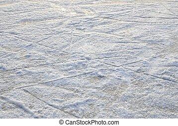 schaatsen, tekens, op, de, oppervlakte