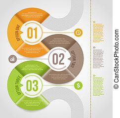 schablone, abstrakt, infographics