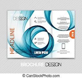 schablone, abstrakt, welle, design, hintergrund, broschüre,...