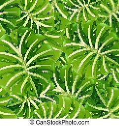 schablone, blätter, grüner hintergrund