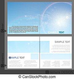 schablone, broschüre, design