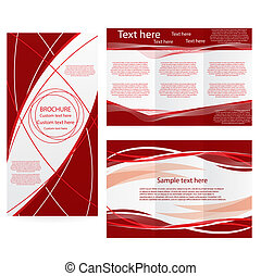 schablone, broschüre, vektor, design, plan