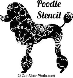 schablone, franzoesischer pudel, hund