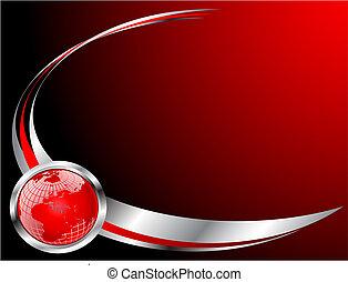 schablone, geschäftskarte, rotes