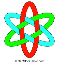 schablone, logo, rgb, ineinandergreifen, ovale, weben,...
