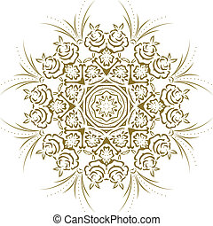 schablone, mandala, design, indische