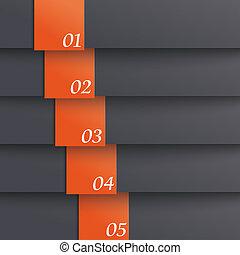 schablone, optionen, 5, schwarz, orange, piad, design