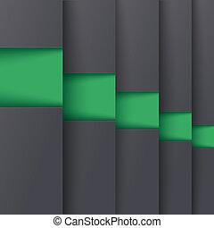 schablone, optionen, 5, tiefe, piad, grün, design