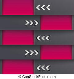 schablone, optionen, 5, tiefe, schwarz, piad, design, lila