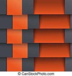 schablone, optionen, doppelgänger, tiefe, schwarz, orange, 5, piad, design