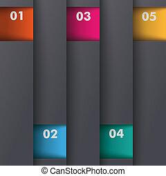 schablone, optionen, gefärbt, tiefe, 5, piad, design