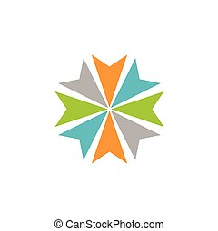 schablone, pfeil, eps, design., vektor, abbildung, kreis, logo, abstrakt, 10., stern