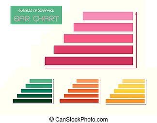 schablonen, satz, diagramm, vektor, schritte, infographics