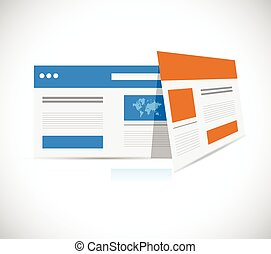schablonen, web, abbildung, browser