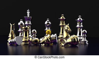schach, schlacht, -defeat