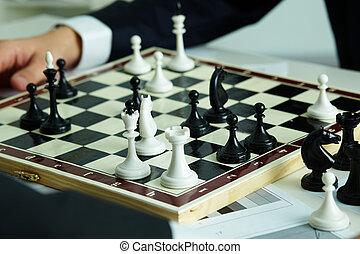 schachbrett, figuren