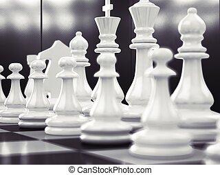 schack, som, affär, lek