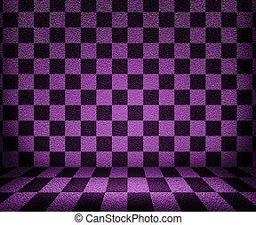 schackbräde, rum, bakgrund, violett