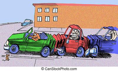 schackrande olycksfall