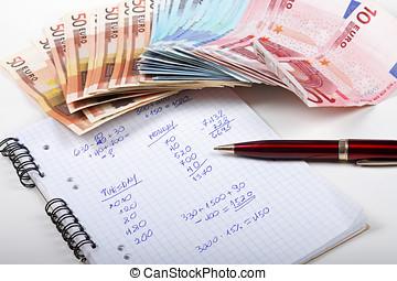 schaduw, concept, economie