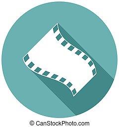 schaduw, film, lang, pictogram