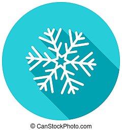 schaduw, sneeuwvlok, lang, kerstmis