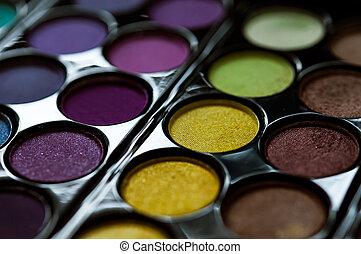 schaduwen, palet, oog makeup, s., achtergrond, professioneel