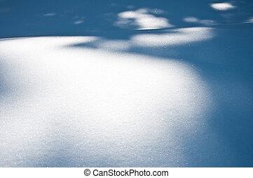 schaduwen, sneeuw, oppervlakte
