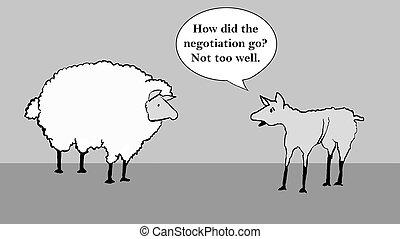 schafe, verhandlung