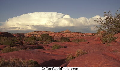 Schafer Canyon Majestic Buttes Storm Approaching Canyonlands