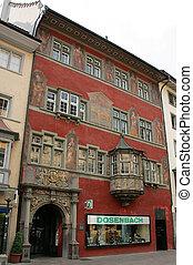 Schaffhausen, Switzerland - Ornate house, Schaffhausen old...